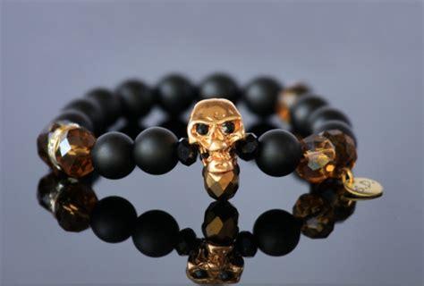 Gelang Pyrite Matte Onyx Skull black onyx bracelet skull bracelet matte black onyx
