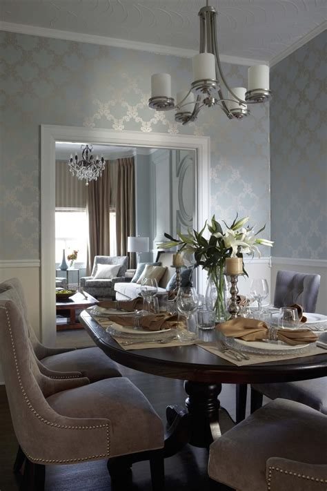 wallpaper dining room contemporary transitional french country dining room
