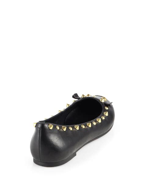 marc by marc flat shoes lyst marc by marc studded leather mouse ballet