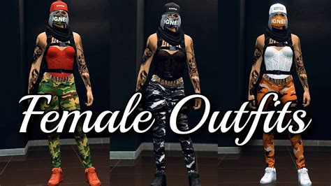 gta  female outfits color matching youtube