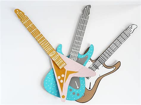 guitar craft for how to make a guitar for your rockstar diy cardboard