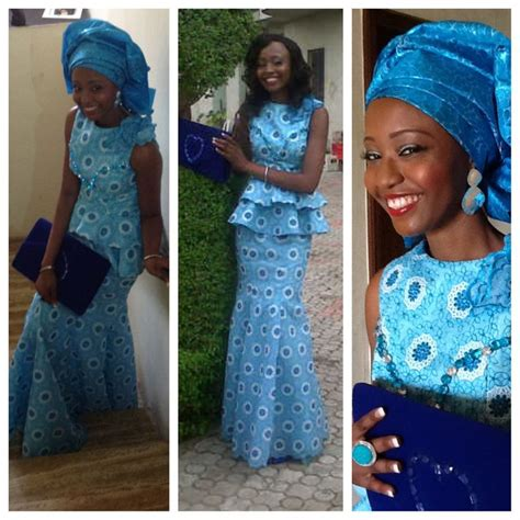 nigerian african lace styles in skirt and top blue lace skirt and blouse ankara styles and other
