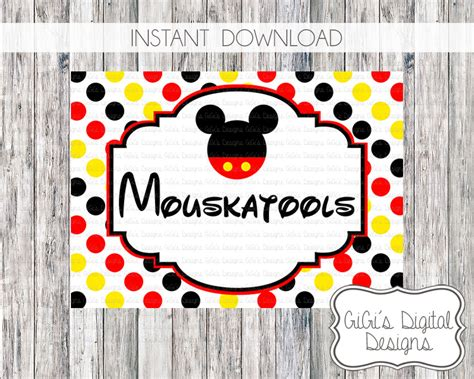 mickey mouse birthday party sign mickey mouse birthday party mouskatools sign disney print
