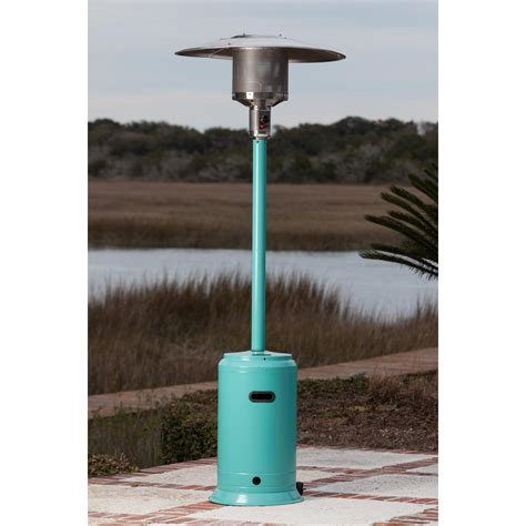 sense 46 000 btu propane gas patio heater aqua blue