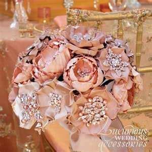 brooch bokays ideas for wedding pinterest