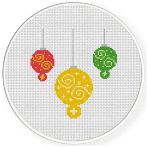counted cross stitch ornament free patterns charts club members only ornaments cross