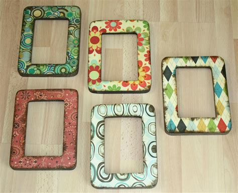 Decoupage Photo Frame Ideas - easy decoupage frames favecrafts
