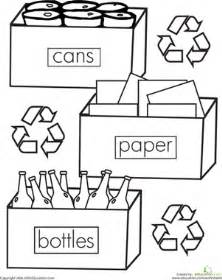 recycling coloring pages color the recycling worksheet education
