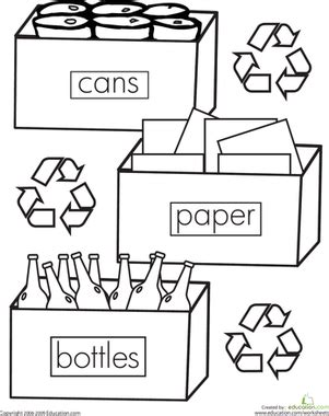 recycle coloring pages preschool color the recycling worksheet education com