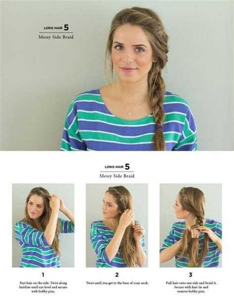 easy hairstyles you can do in 5 minutes messy side braid easy hairstyles you can do in 5 minutes