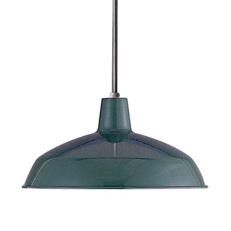 barn style pendant lights shop volume international 15 75 in dark green barn single