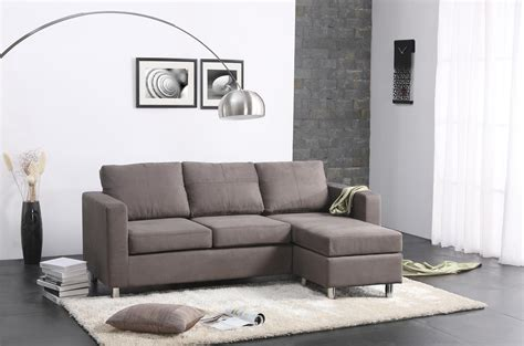 Modern Sofa For Small Living Room Modern Minimalist Living Room Design With Gray Microfiber