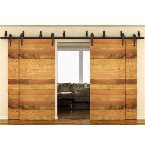 Bypass Sliding Barn Doors Winsoon Modern 4 Doors Bypass Sliding Barn Door Hardware Track Kit 5 16ft Arrow