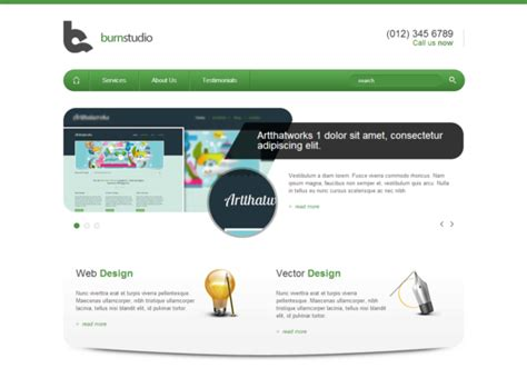 templates for website in html5 and css3 burnstudio responsive html5 template html5xcss3