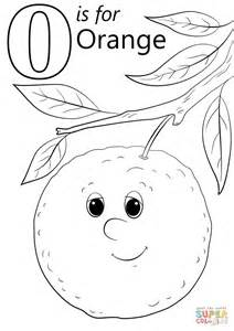 Letter O Is For Orange Coloring Page Free Printable Letter O Coloring Pages Preschool