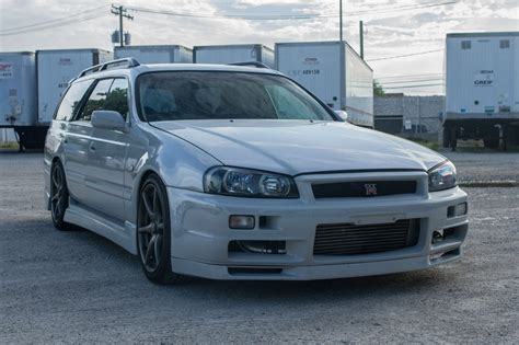 nissan stagea nissan stagea r34 gt r wagon will make you the coolest kid