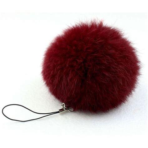 Keychain Pom Pom Real Rabbit Hair Bulb Bag Fur fur pom keychain real rabbit fur key chains fur keyring porte clef llaveros key chain for