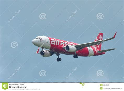 airasia di changi terminal berapa air asia airbus a320 landing at changi airport editorial