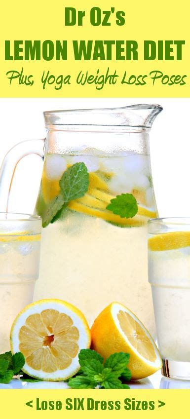 Losing Weight From Detox by Dr Oz Pose To Lose Weight Lemon Water Detox Recipe