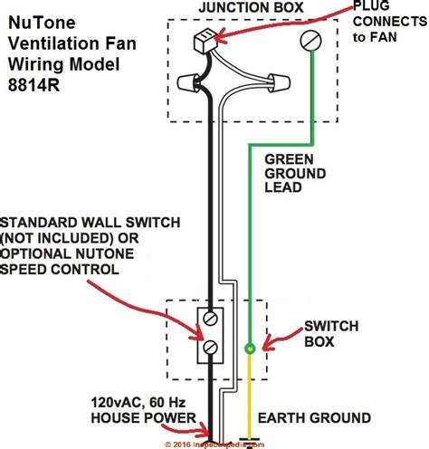 bathroom exhaust fan diagram nutone bathroom fan wiring diagram wiring diagram and