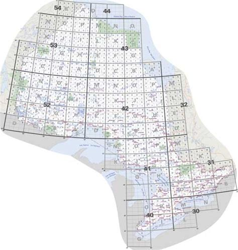 canadian map grid ontario topo maps nts topographical maps for ontario buy