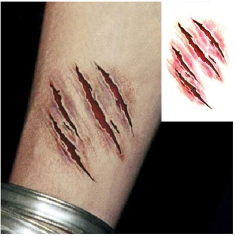 tattoo wound pictures halloween cosplay original design waterproof temporary
