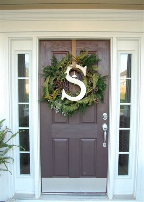 haus and home front door wreaths