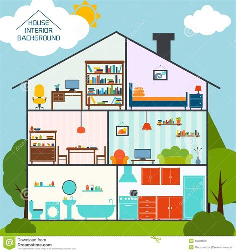 house interior images free house interior background stock vector image 40781828