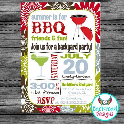 free printable birthday bbq invitations printable summer bbq invitation backyard bbq by