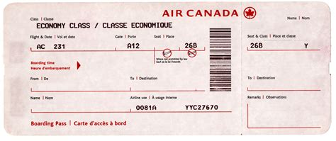 generic boarding pass airline ticket blank template