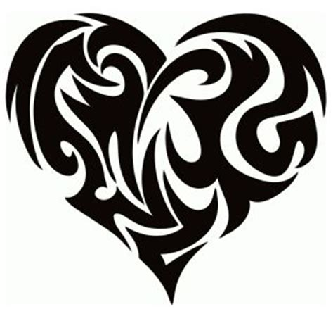tribal heart tattoo hearts pinterest tribal heart