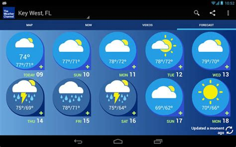the weather channel app for android tablet weather channel app gets optimized for android tablets