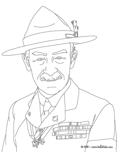 scouts coloring pages robert baden powell coloring page bpsa coloring pages robert baden powell and