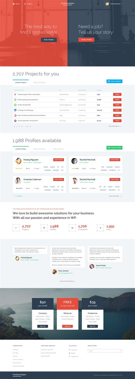 Freelanceengine Freelance Marketplace Template On Inspirationde Freelance Marketplace Website Template
