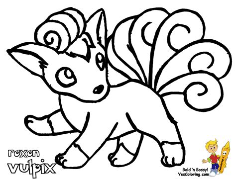 pokemon coloring pages vulpix free coloring pages of vulpix