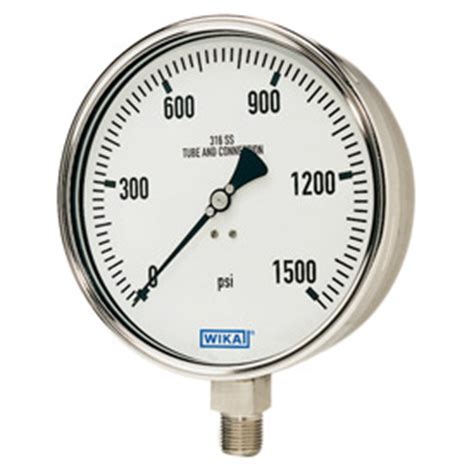 Wika Pressure 232 50 100 Range 600 Bar 2nd Scale Psi wika all stainless steel pressure wintecheng my