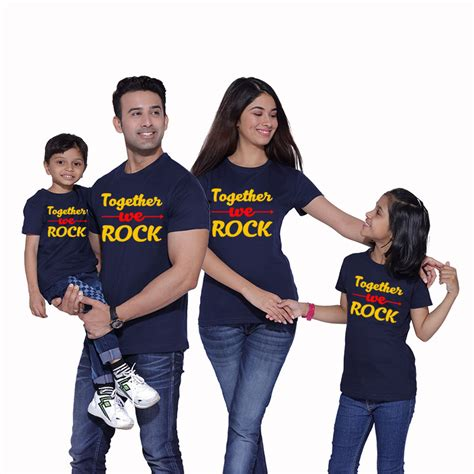 T Shirt Family together we rock matching family t shirts from pepperclub