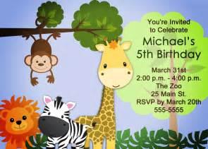 zoo safari birthday invitation for boys or printable