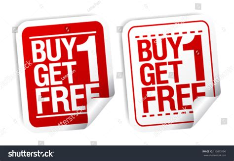 where to buy one buy one get one free promotional sale stickers set stock