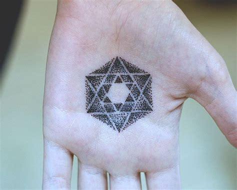 geometric tattoo palm symbolic ink metatron s cube inkspiration