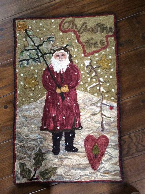 santa rug 17 best images about hooked rugs santa on wool rug hooking and sheep