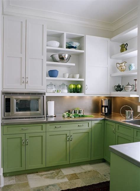 two tone green kitchen cabinets two tone kitchen paint kitchen contemporary with walnut