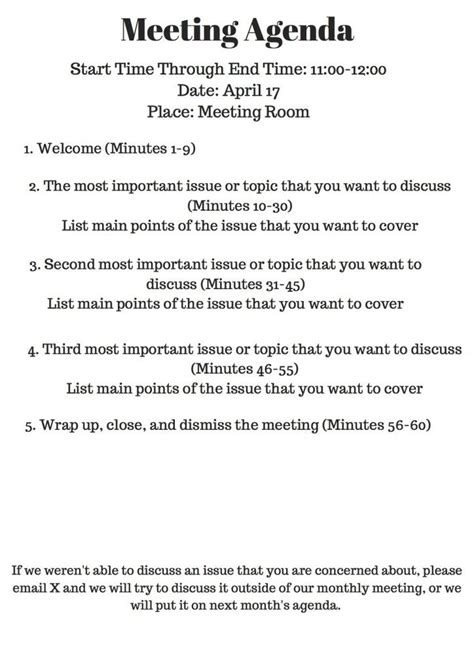 9 staff meeting agenda templates free sample example