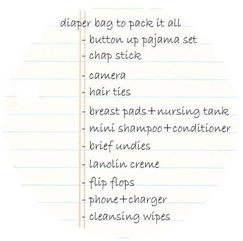 List Of Overnight by Hospital Packing List For Bluebirdkisses