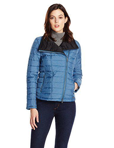 Womens Blue Quilted Jacket by Calvin Klein S Solid Quilted Jacket In