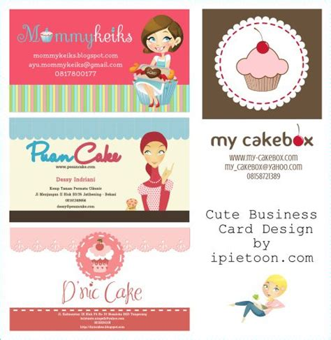 cute business card name card design custom blogger