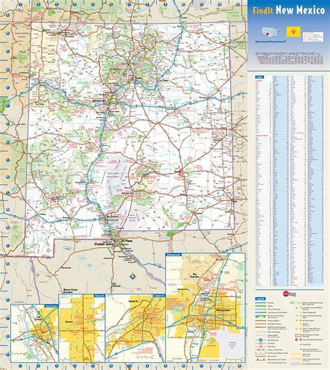 new mexico map with cities large detailed roads and highways map of new mexico state