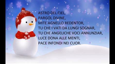 canzoni di natale con testo astro ciel canzoni natalizie con testo