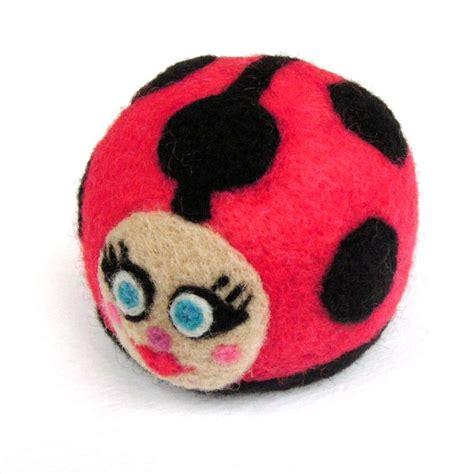 Handmade Felt Toys - felt ladybug handmade felt toys