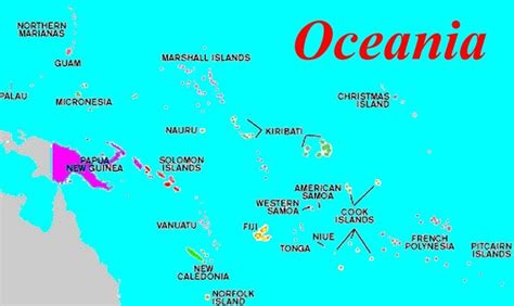 map of oceania countries oceania map oceania